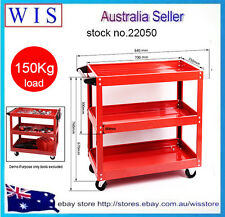 3 Tier Tool Cart Trolley, 3 Level Tray, All Steel Mechanic,150Kg Capacity-22050