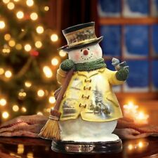 Thomas Kinkade Figurine - Holiday Cheer Snowman New  Item 1513888009 COA