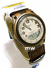 Casio Sport Beige Dial World Time Ana/Digi Cloth Band Quartz Men Watch AW-80V-5B