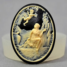 Lady Angel Cameo - silicone mould classical mold clay fimo cupcake resin plaster