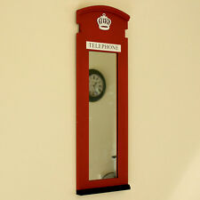 RED LONDON TELEPHONE BOX SPECCHIO CORNICE TELEFONO CASA MURO INGLESE Urban Chic