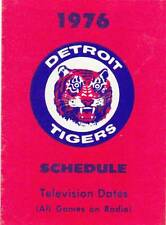1976 DETROIT TIGERS BASEBALL POCKET SCHEDULE