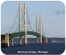 MOUSE PAD CUSTOM THICK MOUSEPAD-MACKINAC BRIDGE, MI-ADD ANY TEXT