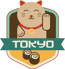 "Tokyo Japan World City Travel Label Badge Car Bumper Sticker Decal 5"" x 5"""