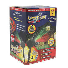 Glow Bright Christmas Laser Light Show DELUXE WITH REMOTE, Tripod, and Stak