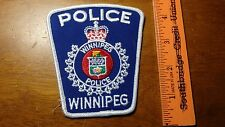 WINNIPEG CANADA POLICE DEPARTMENT  OBSOLETE PATCH  BX 11#30