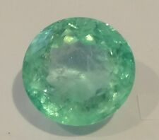 VERY RARE & BIG 46.13 Cts Round Cut Natural Colombian Emerald Loose Gemstone