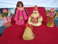 STRAW AND ROPE ORNAMENTS AND DECORATIONS COLLECTIBLE HARVEST FALL
