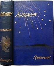 1875 ASTRONOMY BY J. RAMBOSSON NEAR FINE BINDING ILLUSTRATED COLOR PLATES MAPS