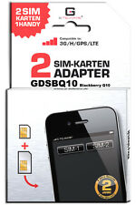 Blackberry Q10 Dual SIM Adapter Karte Card GDSBQ10