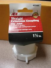 """Ace Straight Extension Coupling #4223491 1-1/2"""" Slip Joint NEW Free Shipping"""