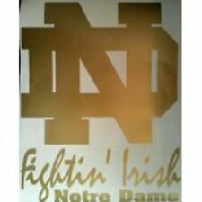 Notre Dame ND GOLD DECALS - 2 CORNHOLE DECALS  Vinyl Decals