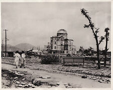 hiroshima  japan   10 years on  4-8- 1955  vintage   press photograph