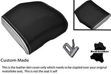 WHITE & BLACK 08-12 CUSTOM FITS YAMAHA 600 YZF R6 REAR SEAT COWL PAD COVER