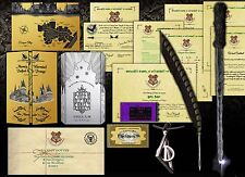 Harry Potter ULTIMATE Set! Box Marauders, Wand, Hogwarts Letter, Quill, Ticket