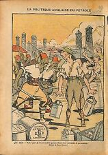 Caricature John Bull Oil British Petroleum UK Ottoman Empire 1920 ILLUSTRATION