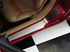 C5 Corvette 1997-2004 Stainless Steel Door Sill Guards - Plain Brushed