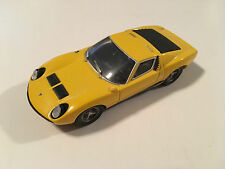 Ixo 1966 Lamborghini Miura Yellow Diecast Model Car Scale 1:43 Used Condition