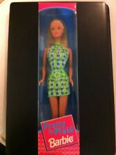 """Barbie Doll """"Pretty In Plaid"""" 1998 New In Box Blonde With Green Dress"""