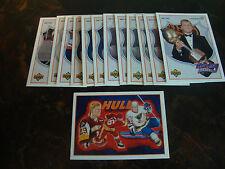 1991-92 Upper Deck Hockey---Brett Hull Heroes---Lot Of 13---See List