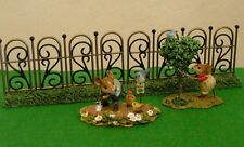 Dept 56   MY GARDEN FENCE - SET OF TWO - DISPLAY GOOD FOR WEE FOREST FOLK