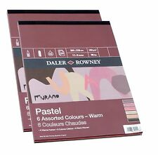 "Daler Rowney Murano Pastel Paper Pad 6 Warm Colours 16 x 12"" 30 Sheets Red Brown"