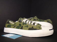 CONVERSE JACK PURCELL JP LTT OX OLIVE BRANCH GREEN CAMO WHITE BLACK 132759C 11
