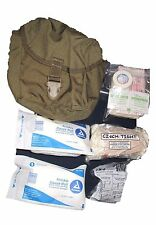 10 Pieces+  Set US ARMY USMC IFAK Military Surplus Coyote First Aid Kit Pouch
