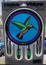 Hummingbird Native American Stained Glass Visions Window Sticker Decal Wiccan