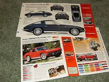 1963 CORVETTE STING RAY SPEC INFO POSTER BROCHURE AD 63 STINGRAY