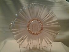Vintage Pink Depression Glass Double Handled Bowl / Plate