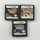 3PCS Pokemon Platinum+Pearl+Diamond US Version Game card For Nintendo DS NDS DSI