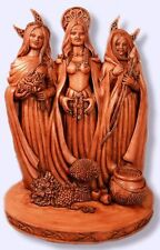 Triple Goddess Brigid Brigit Celtic Maid Mother Crone Pagan Wicca Statue #TGS