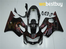 Black Red Flames New ABS Injection Fairing Kit for Honda 1999-2000 CBR600 F4 pC2