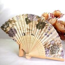 1PC Japanese Cherry Blossom Folding Hand Dancing Wedding Party Decor Fan Hot A2