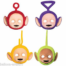 4 Assorted Adorable Teletubbies Children's Birthday Party Card Face Masks