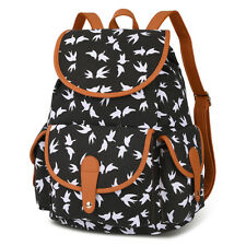 Vbiger Canvas Backpack for Women Girls Boys Casual School Bag Sports Daypack