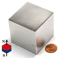 "N50 2"" Cube Neodymium Magnet- Super Strong NdFeB 1 PC"