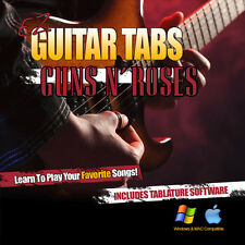 Learn How To play Guns N Roses Tab Learn Guitar Tablature + Tab Software CD