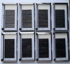 8 trays mit je 16 Streifen Flat Lashes, Slim Lashes, Flatlashes, Slimlashes, neu