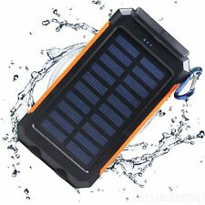 300000mAh Dual USB Portable Solar Power Bank Battery Charger Back Up Waterproof
