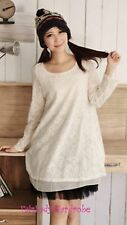Brand New Japanese Korean Style Lace Hollow Blouse Dress Top XS
