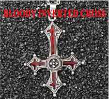 Inverted Cross Bloody Cross Pendant Satanism Necklace Vampire Lucifer Gothic