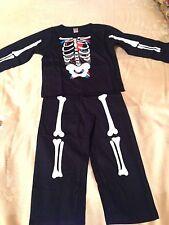 Kids Glowing Guts Skeleton 100% Cotton Pyjamas Age 3 To 4 Years