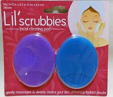 Exfoliating Facial Brush Lil Scrubbies 2pk Gentle Silicone Cleansing Pad
