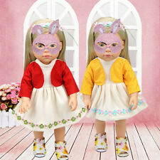 Fashion 2 in 1 Doll's Dress Clothes for 18 Inch American Girl Doll Kids toy