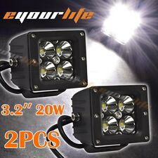 Pair Eyourlife 20W 3.2 Inch LED Spot Work Light Driving Automotive Trucks F150