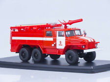 URAL 375N AC-40 C1A fire Department the city of Moscow SSM1231 1:43