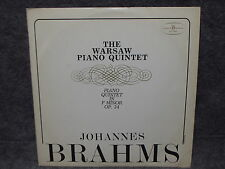 33 RPM LP Record Johannes Brahms The Warsaw Paino Quintet Muza SX 1390