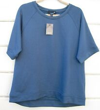 Lumiere Galaxy Blue Classic Casual SS Pullover Sweatshirt Top Wms Lg NWT